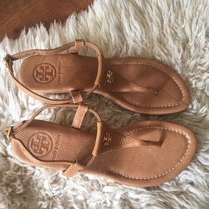 NEW Tory Burch Britton Cork Wedge Sandal 5.5 Strap